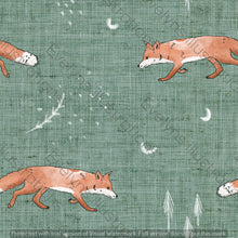 Load image into Gallery viewer, Digital Download - Non Exclusive | Medium Scale | Fox Tales Green | 7 by 7 Inches