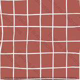Digital Download - Non Exclusive | Medium Scale | Dusky Rust | Square Grid | 6 by 6 inches