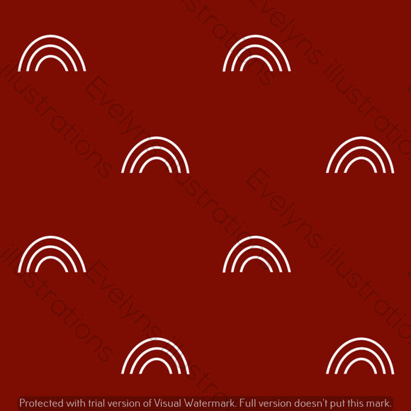 Digital Download - Non Exclusive | Medium Scale | Deep Red | Bohemian Rainbows | 6 by 6 Inches