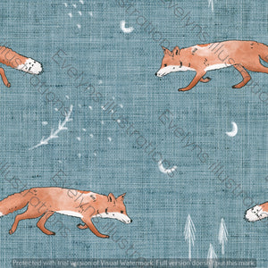 Digital Download - Non Exclusive | Medium Scale | Fox Tales Blue | 7 by 7 Inches