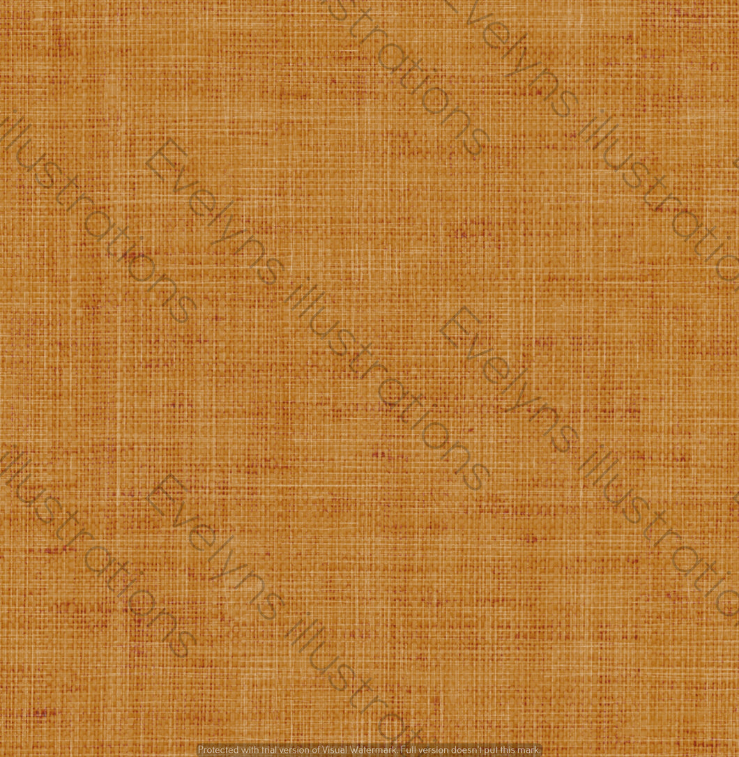 Illustrated Pattern Digital Download - Non Exclusive | Mustard | Hessian Effect