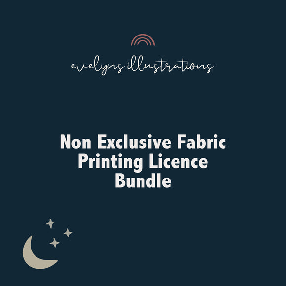LIMITED OFFER Non Exclusive Licence for fabric suppliers - 5 product bundle! - Evelyns Illustrations