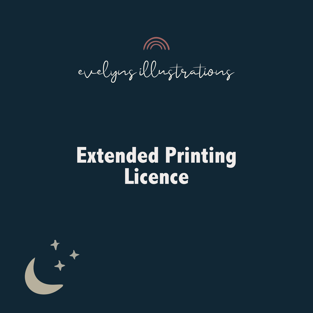 Extended Printing Licence for products
