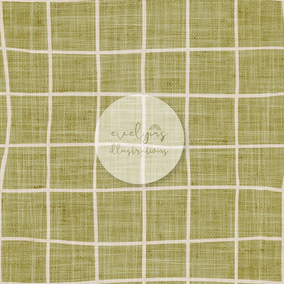 Digital Download - Non Exclusive | Medium Scale | Olive Green | Square Grid | 6 by 6 inches