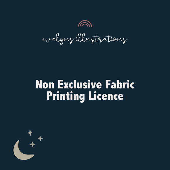 Non Exclusive Licence for fabric suppliers - Evelyns Illustrations