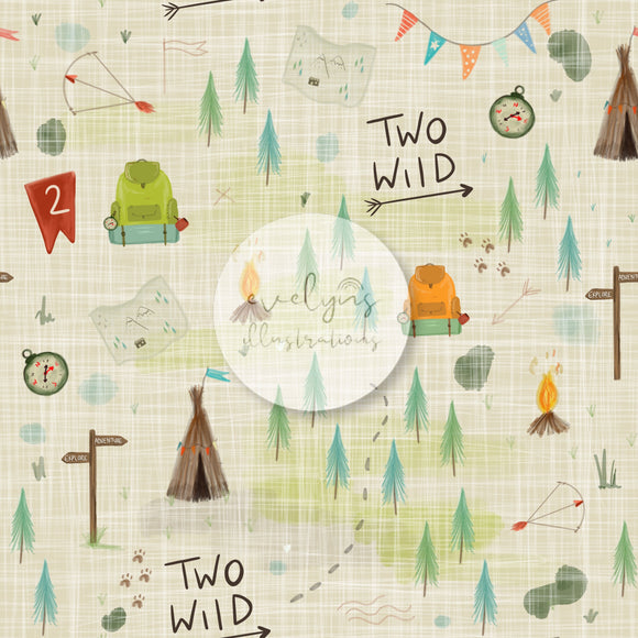 Digital Download -  Non exclusive | Two Wild Birthday Cream |  11.4 by 11.4 inches