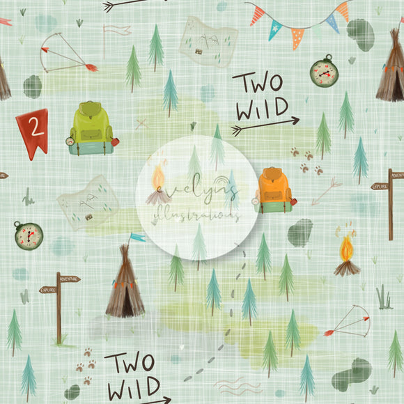 Digital Download -  Non exclusive | Two Wild Birthday Green |  11.4 by 11.4 inches