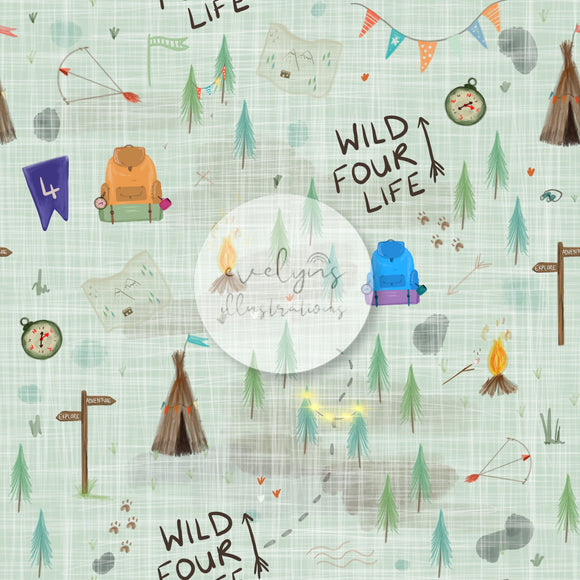 Digital Download -  Non exclusive | Wild Four Life Green |  11.4 by 11.4 inches