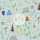 Digital Download -  Non exclusive | Wild and Three Birthday Blue |  11.4 by 11.4 inches