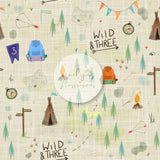 Digital Download -  Non exclusive | Wild and Three Birthday Cream |  11.4 by 11.4 inches