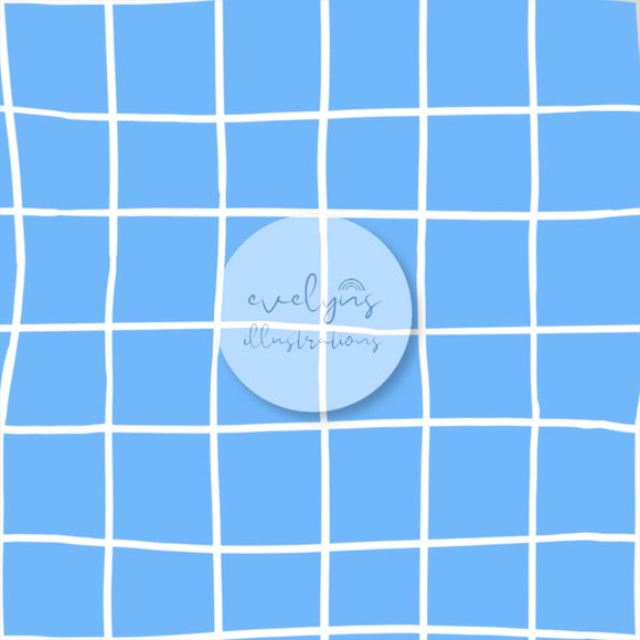 Digital Download - Non Exclusive | Medium Scale | Bright Blue | Square Grid | 6 by 6 inches