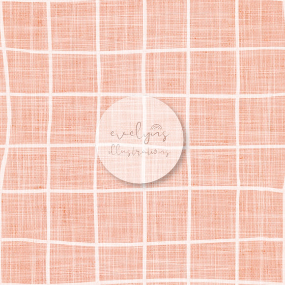 Digital Download - Non Exclusive | Medium Scale | Rose Pink Textured | Square Grid | 6 by 6 inches | Oh Baby Blue Collection