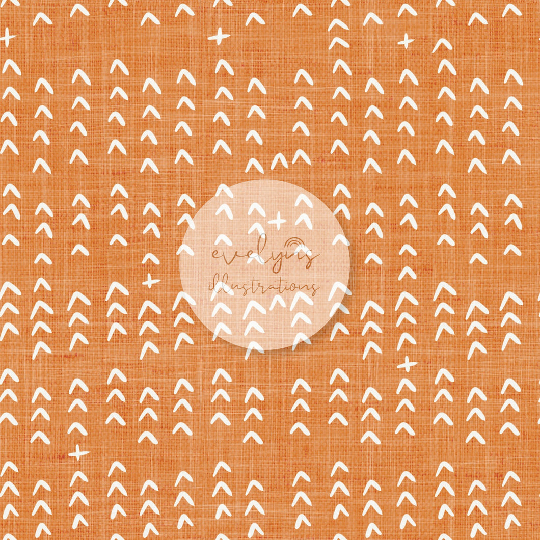 Digital Download - Non Exclusive | Medium Scale | Orange | The Jungle Tiger Dashes | 6 by 6 Inches Jungle Tiger Collection