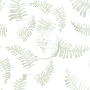 Digital Download - Non Exclusive | Medium Scale | White | The Jungle Tiger Leaves | 6 by 6 Inches Jungle Tiger Collection