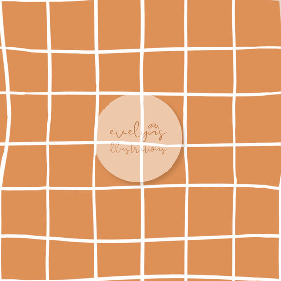 Digital Download - Non Exclusive | Medium Scale | Orange | Square Grid | 6 by 6 inches