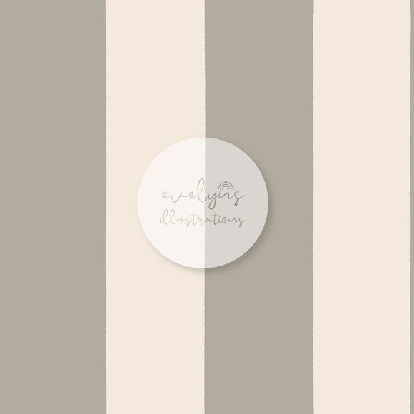 Digital Download - Non Exclusive | Medium Scale | Grey Stripes | 6 by 6 inches (1.5 inch stripe width)