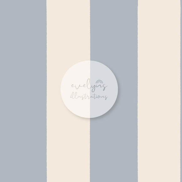 Digital Download - Non Exclusive | Medium Scale | Light Grey Blue Stripes | 6 by 6 inches (1.5 inch stripe width)