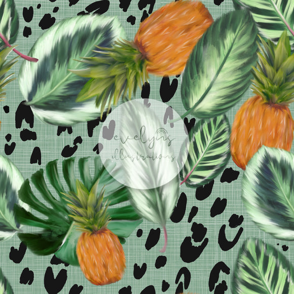Digital Download - Non Exclusive | Medium Scale | Tropical Days Green | 7 by 7 inches