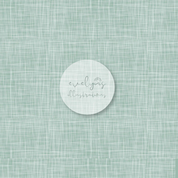 Repeat Illustrated Pattern Digital Download - Non Exclusive | Mint | Hessian Effect | Medium Scale | 8 by 8 inches