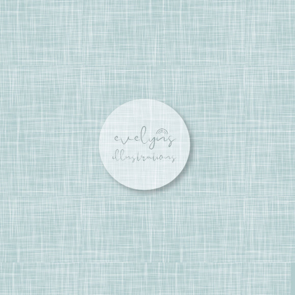 Repeat Illustrated Pattern Digital Download - Non Exclusive | Light Blue | Hessian Effect | Medium Scale | 8 by 8 inches