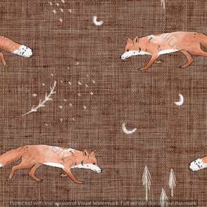 Digital Download - Non Exclusive | Medium Scale | Fox Tales Brown | 7 by 7 Inches