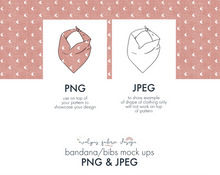Load image into Gallery viewer, EPS , PNG & JPEG image Bandana/Bib Mock up (This item is included in the Bundle Package) (14) - Evelyns Illustrations