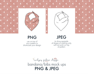 EPS , PNG & JPEG image Bandana/Bib Mock up (This item is included in the Bundle Package) (14) - Evelyns Illustrations