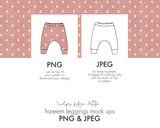 PNG & JPEG image Hareem Leggings Mock up (This item is included in the Bundle Package) (2) - Evelyns Illustrations