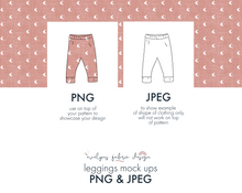 Load image into Gallery viewer, PNG & JPEG image Simple Leggings Mock up (5) - Evelyns Illustrations