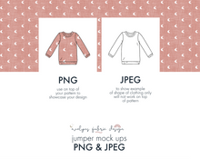 Load image into Gallery viewer, PNG & JPEG image Jumper Mock up (11) - Evelyns Illustrations