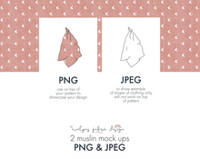 Load image into Gallery viewer, PNG & JPEG image Muslins Mock ups (13) - Evelyns Illustrations