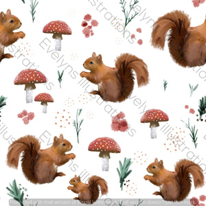 Digital Download - Non Exclusive | Medium Scale | Spring Squirrel | 7 by 7 Inches