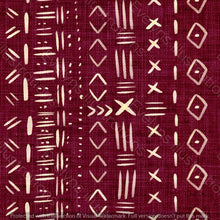 Load image into Gallery viewer, Non Exclusive | Medium Scale | Burgundy | Mudcloth | 6.5 by 6.5 Inches