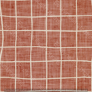 Digital Download - Non Exclusive | Medium Scale | Rust | Square Grid | 6 by 6 inches