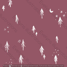 Load image into Gallery viewer, Digital Download - Non Exclusive | Medium Scale | Dusk 2 PACK | Little Forest Trees | 6 by 6 Inches - Evelyns Illustrations