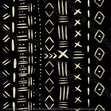 Load image into Gallery viewer, Non Exclusive | Medium Scale | Black | Mudcloth | 6.5 by 6.5 Inches