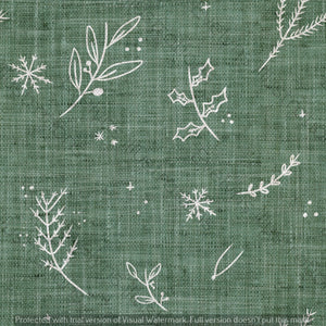 Digital Download - Non Exclusive | Medium Scale | Olive Meadow Green 2 PACK | Festive Foliage | 6 by 6 Inches - Evelyns Illustrations