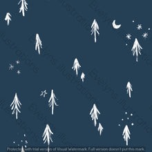 Load image into Gallery viewer, Digital Download - Non Exclusive | Medium Scale | Navy 2 PACK | Little Forest Trees | 6 by 6 Inches - Evelyns Illustrations