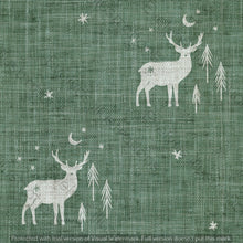 Load image into Gallery viewer, Digital Download - Non Exclusive | Medium Scale | Olive Meadow Green 2 PACK | Stag and Trees | 6 by 6 Inches - Evelyns Illustrations