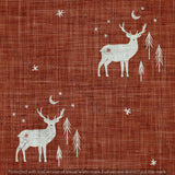 Digital Download - Non Exclusive | Medium Scale | Rust 2 PACK | Stag and Trees | 6 by 6 Inches - Evelyns Illustrations