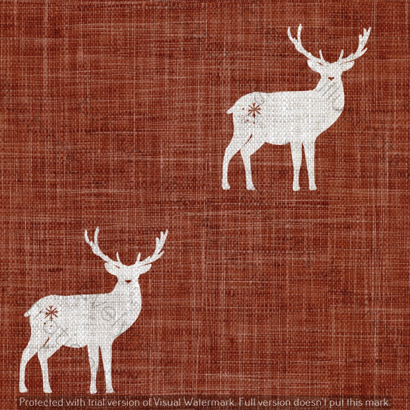 Digital Download - Non Exclusive | Medium Scale | Rust 2 PACK | Stags | 6 by 6 Inches - Evelyns Illustrations