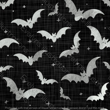 Load image into Gallery viewer, Repeat Illustrated Pattern Digital Download - Non Exclusive | Medium Scale | 2 PACK Black | Bats | 5 by 5 Inches - Evelyns Illustrations
