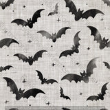 Repeat Illustrated Pattern Digital Download - Non Exclusive | Medium Scale | 2 PACK Grey | Bats | 5 by 5 Inches - Evelyns Illustrations
