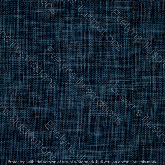 Repeat Illustrated Pattern Digital Download - Non Exclusive | Dark Blue | Hessian Effect | Medium Scale | 6 by 6 inches - Evelyns Illustrations
