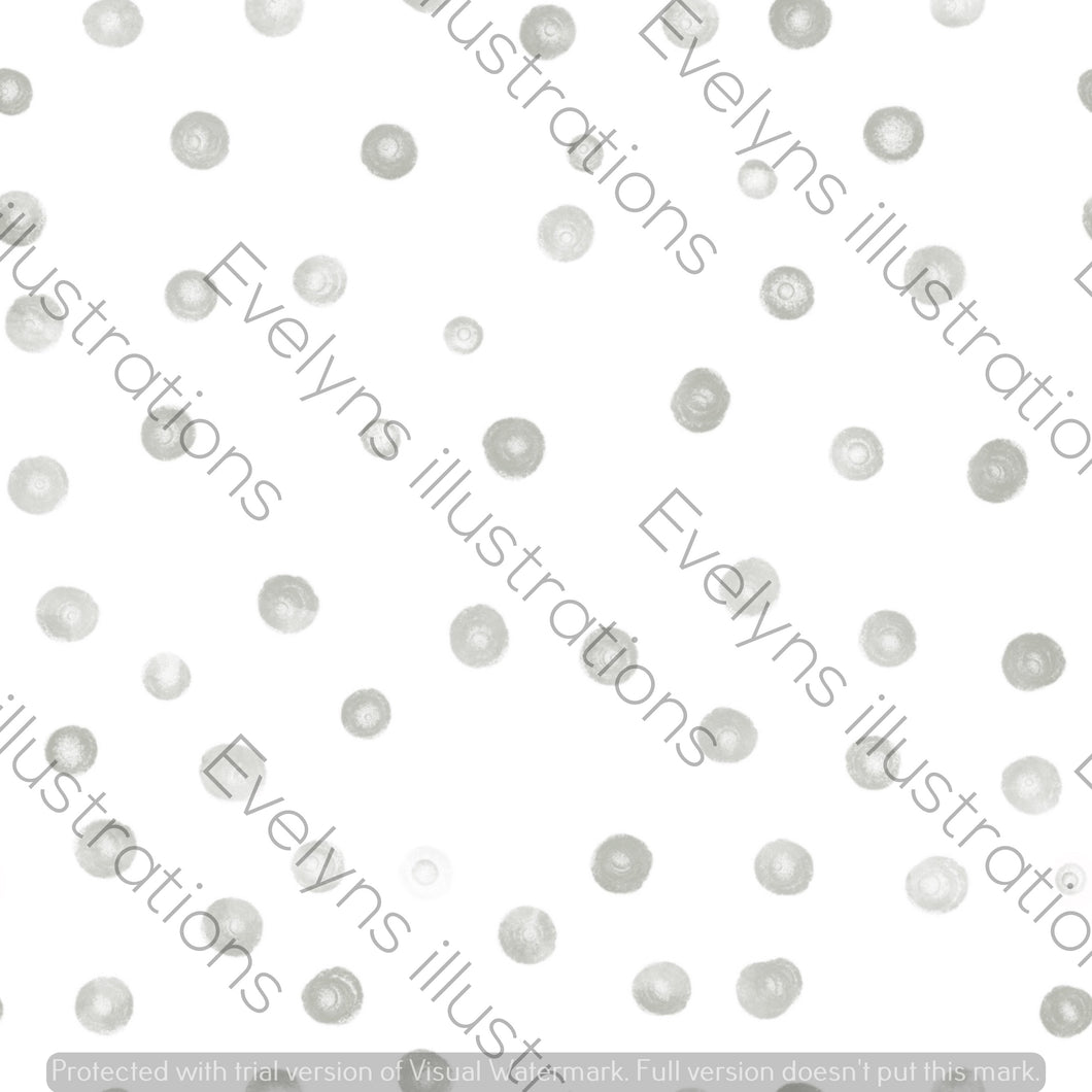 Digital Download - Non Exclusive | Small Scale | Grey | Blush Dots | 2.5 by 2.5 Inches - Evelyns Illustrations