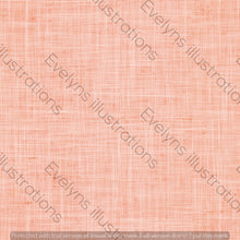 Load image into Gallery viewer, Repeat Illustrated Pattern Digital Download - Non Exclusive | Blush Salmon Pink | Hessian Effect | Medium Scale | 6 by 6 inches - Evelyns Illustrations