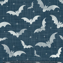 Load image into Gallery viewer, Repeat Illustrated Pattern Digital Download - Non Exclusive | Medium Scale | 2 PACK Blue | Bats | 5 by 5 Inches - Evelyns Illustrations