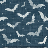 Repeat Illustrated Pattern Digital Download - Non Exclusive | Medium Scale | 2 PACK Blue | Bats | 5 by 5 Inches - Evelyns Illustrations