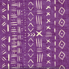 Load image into Gallery viewer, Non Exclusive | Medium Scale | Purple | Mudcloth | 6.5 by 6.5 Inches