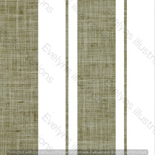 Load image into Gallery viewer, Repeat Illustrated Pattern Digital Download - Non Exclusive | Medium Scale | Olive | Hessian Effect Stripes | 4.5 by 4.5 inches - Evelyns Illustrations